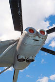 V-12 helicopter engine — Stock Photo