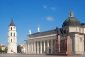 Praça catedral de vilnius — Fotografia Stock