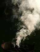 Smoke in the air — Stock Photo