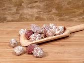 Small sausage snack — Stock Photo