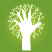 Hands tree — Vector de stock