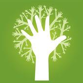 árbol de manos — Vector de stock