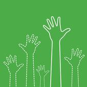 Green Hands — Stock Vector