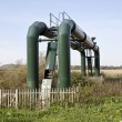 Water treatment pipes — Stock Photo
