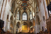 The altar at tewkesbury abbey — Stock Photo