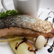 Salmon stake — Stock Photo