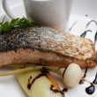 Stock Photo: Salmon stake