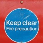Keep clear — Stock Photo