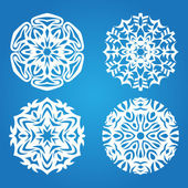 Blue snowflake set — Stock Vector