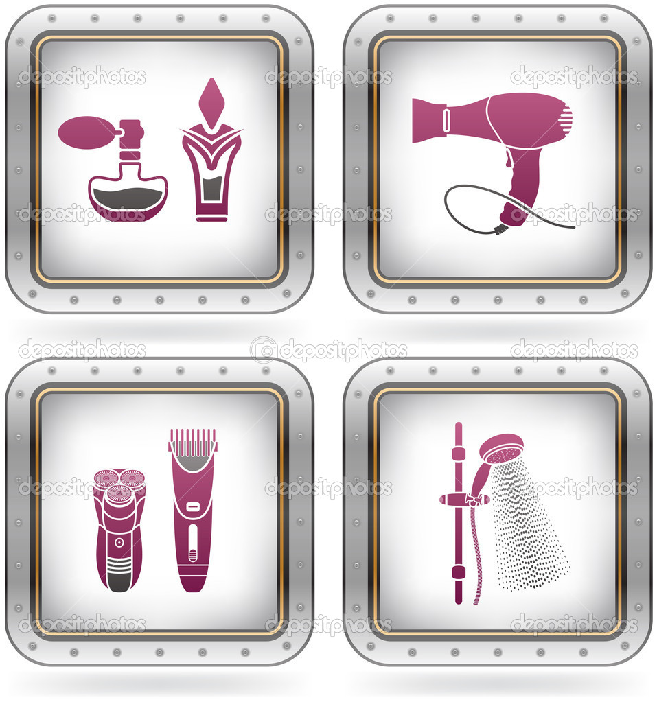 Bath utensils stock vector vectorminator 6750413 for Bathroom utensils