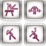 Sports figures — Stock Vector #6876057