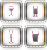 Alcohol glasses — Stock Vector