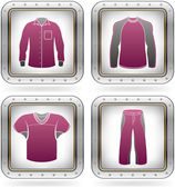 Man's Clothing — Stockvektor