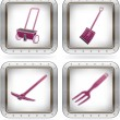 Garden Tools — Stock Vector