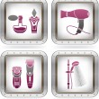 Stock Vector: Bathroom utensils