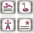 Camping Icons — Stock Vector #7091310