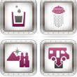 Vector de stock : Camping Icons