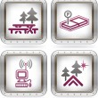 Camping Icons — Stock Vector #7093236