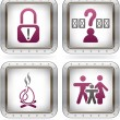 Camping Icons — Stock Vector #7098977