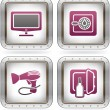 Hotel Related Icons - Stock Vector
