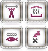 Kemping ikony — Wektor stockowy