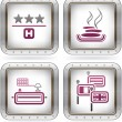 Hotel Related Icons — Stock Vector