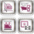Stock Vector: Hotel Related Icons
