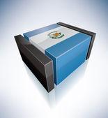 3D flag of Guatemala — Stock Vector