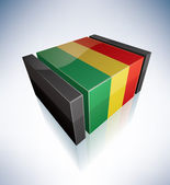 3D flag of Bolivia — Stock Vector