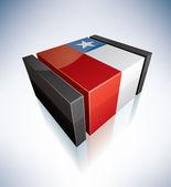 3D flag of Chile — Vector de stock