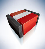 3D flag of Peru — Stock Vector