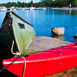 Colorful canoes — Stock Photo #7167728