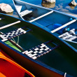Colorful canoes — Stock Photo #7167734