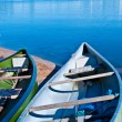 Colorful canoes — Stock Photo