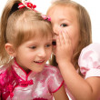 Two little girls are chatting — Stock Photo #6768211