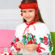 Stock Photo: Girl in Ukraininational cloth
