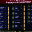 Stockfoto: Scoreboard of baggage info from airport