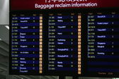 Scoreboard of the baggage info from the airport — Stock Photo