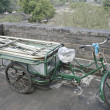 Stock Photo: Downtown of Xian, Rickshaws on city wall
