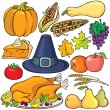 Thanksgiving day pictogrammenset — Stockvector