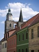 Jueterbog-St.Nicholas-town houses — Stock Photo