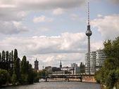 Berlín-tv torre-noche — Foto de Stock