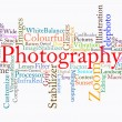 Photography text cloud - Stock Photo