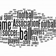Football text clouds — Stok fotoğraf
