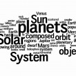 Solar text clouds - Stock Photo