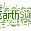 Earth and sun text clouds — Stock Photo