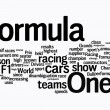 Stock Photo: Formula 1 word clouds