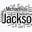 Stock Photo: Michael jackson word clouds
