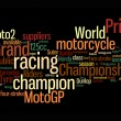 Motogp color text clouds - Stockfoto