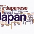 Japan word clouds — Stock Photo